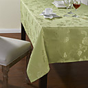 Green Polyester Rectangular Table Cloths