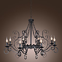 Stylish Chandelier with 8 Lights in Antique Style