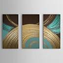 Oil Painting Abstract Circle Set of 3 1307-AB0475 Hand-Painted Canvas