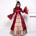 Flare Sleeve Floor-length Red Satin Classic Lolita Victorian Dress
