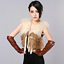 Fur Vest With Sleeveless Collarless Wool Fur Casual/Party Vest (More Colors)