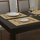 Ensemble De 4 Sets de Table Classique Beige