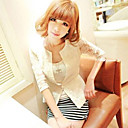 Women's Lace Embroidery Single Button Blazer
