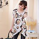 Vrouwen plus size ronde kraag asym zoom blouse