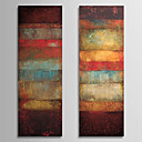 Oil Painting Abstract with Stretched Frame Set of 2 1308-AB0716 Hand-Painted Canvas