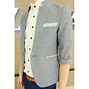 Men's Half Sleeve Ramie Cotton Blazer