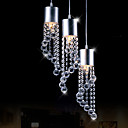 Modern Dainty 3 Lights Pendant In Wave Shape