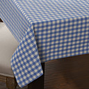 Country Style Blue Check Pattern Table Cloth