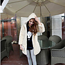 Thick Long Sleeve Hooded Collar Faux Fur Party/Casual Coat(More Colors)