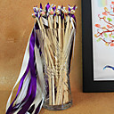 Purple Wedding Ribbon Wand--(Set of 10) Peacock Wedding