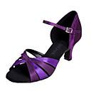 Zapatos de baile (Morado) - Danza latina - Personalizados - Tacón Personalizado