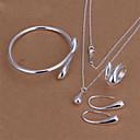 Mote Brass Forsølvet kvinner Jewelry Set