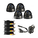 4 Waterproof IR Camera kit with 1/4 Sony CCD(24 IR Leds)
