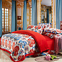 4-Piece Velvet Printed Duvet Cover Set
