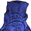 Recht op de troon mouwloze knielange Double breasted Velvet Gothic Lolita Dress