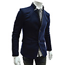 Men'S Stitching Leather Fasion Suit