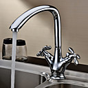 Sprinkle® Kitchen Faucets Centerset with Chrome Two Handles One Hole