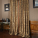 TWOPAGES® Two Panels Rococo Vitage Flower Jacquard Energy Saving Curtain Drape