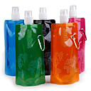 Outdoor Sport Portable Folding Water Bag Cartoon Water Bottle With Hook Holder 16oz (480ml) 20pcs/Lot