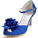 Women's Wedding Shoes Peep Toe Sandals Wedding Blue/Red/Ivory/White