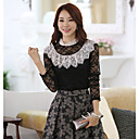 Women's Lace T-shirt , Casual Long Sleeve Lace