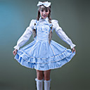 Long Sleeve knelang Cotton Søt Lolita Dress