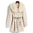 lange mouw turndown faux fur party / casual jas (meer kleuren)