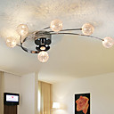 luz de teto modernas lâmpadas de vida incluído 6 luzes