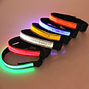 Adjustable LED Safety Nylon ABS Pure Color  Collar for Pets Dogs (Assorted Colors, Sizes)