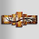 Håndmalt oljemaleri med abstrakt motiv på strukket ramme – sett på 5