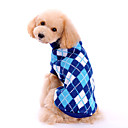 Lovely Classic Blue Checks Pattern Sweater for Pets Dogs (Assorted Sizes)