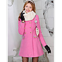 Pink Doll Graceful Slim Cut Rhinestones Coat