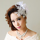 Fabric Flowers with Imitation Pearl Wedding Headpieces