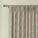 (Two Panels) Rococo Curvilinear Figures Pattern Energy Saving Curtain