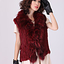 Fur Vest With Sleeveless Shawl Rabbit Fur And Fox Fur Party/Casual Vest(More Colors)