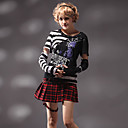 Classic Stripes Cotton Punk Lolita T-shirt with Sleeves