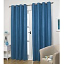 (Two Panels)Modern Classic Solid Energy Saving Curtain