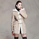 Long Sleeve Hooded Faux Fur Partiet / Casual Coat