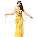 Dancewear Bling gasa partida lentejuelas vientre trajes de baile con la moneda de la correa y Veil (más colores, Arriba y abajo)