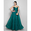 TS Couture® Formal Evening / Military Ball Dress - Jade Plus Sizes / Petite A-line Bateau Floor-length Chiffon