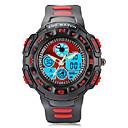 ZGO Children's/Men's LED Dial Silicone Band Quartz Analog Water Resistant Sport Wrist Watch