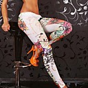 Women's Low Waist Embroidery Legging