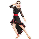 Dancewear Sexy Tulle Rypytys viskoosia Latin Dance asuja (More Colors)