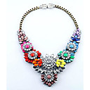 Women's Luxurious Fashion Pretty Alloy Gemstone Bib Necklace