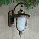 Outdoor Wall Light, 1 Luce, Pittura Classic Vetro di alluminio