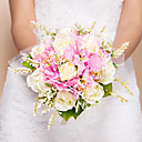 Elegant Round Shape Silk Wedding Bouquet