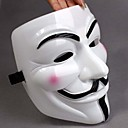 Saucen jævnes White Mask V For Vendetta Full Face Scary Cosplay Gadgets til Halloween kostumebal