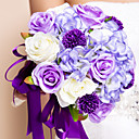 Nice Rose Design Round Shape Silk Bouquet
