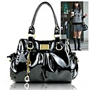Women's Fashion Wrinkle Patent Leather Tote