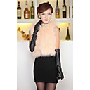Fur Vest With Sleeveless Collarless Tacchino Fur And Ostrich Fur Party/Casual Vest(More Colors)